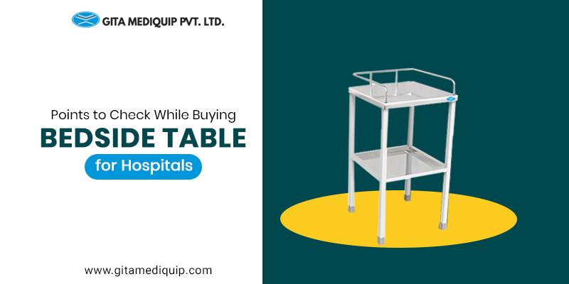 Bedside Table for Hospitals
