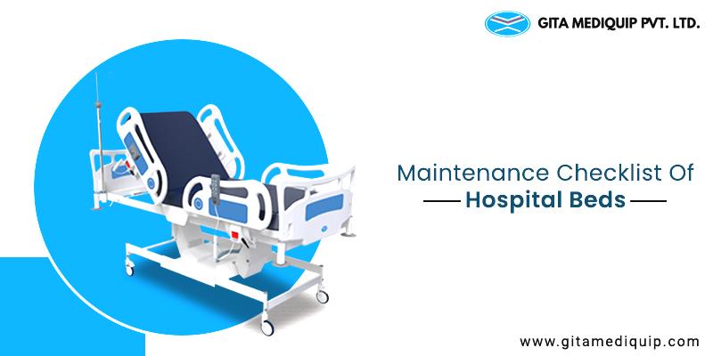 Maintenance checklist of hospital beds